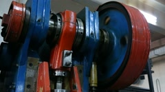 Pulley factory machinery industry Stock Footage