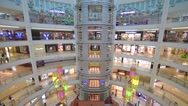 Shoppers in Suria KLCC Mall Stock Footage