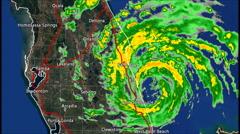 1995 Hurricane Erin Landfall Radar Time Lapse Stock Footage