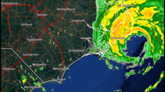 2004 Hurricane Alex Landfall Radar Time Lapse Stock Footage