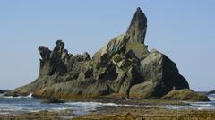 Timelapse of coast and seastacks, Portage Head, Washington Stock Footage