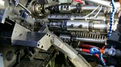 Robot machine metal iron industry Stock Footage