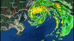 1997 Hurricane Danny Landfall Radar Time Lapse Stock Footage