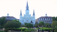 New Orleans, USA - September 2016: View of St Louis Cathedral in the French Arkistovideo