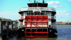 New Orleans, USA - September 2016: View of New Orleans Paddle Steamer a River Arkistovideo