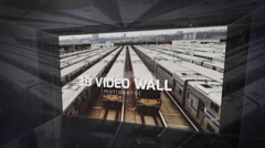 3d video wall Stock After Effects