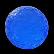 Ocean sphere - 3D illustration Stock Illustration