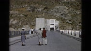 1958: wealthy characters visiting tourist destination national park dam areas Stock Footage