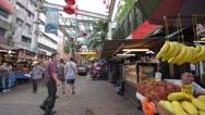 View of China Town in Kuala Lumpur CC Malaysia Stock Footage