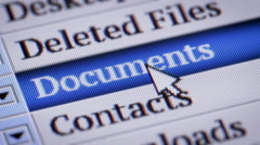 Documents. My own design of program menu. Stock Footage