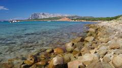 Boats on the Sardinian Sea Stock Footage
