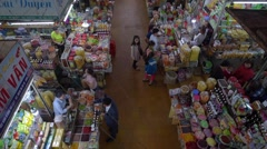 Unidentified people shopping at the Central City Market Stock Footage