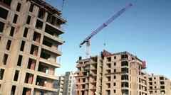 Civil Engineering. Construction Site of Microdistrict Stock Footage