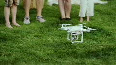 Family activity with Quadcopter Drone Stock Footage