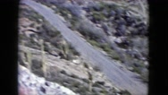 1960: hilly area is seen with trees and greenery NEW MEXICO Stock Footage