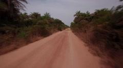 Jungle road Africa - Guinea Bisseau Stock Footage