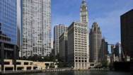 4K UltraHD Timelapse from the Riverwalk of Chicago Stock Footage