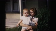 1962: mother with small child is seen HAGERSTOWN, MARYLAND Stock Footage