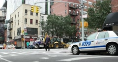 NYPD Car in Manhattan New York City 4K Stock Video Stock Footage