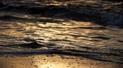 Sunrise beach water in paradise in slowmotion Stock Footage