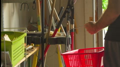 Country hardware store shopping Stock Footage
