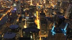 4K UltraHD Timelapse Aerial night view of Chicago Arkistovideo