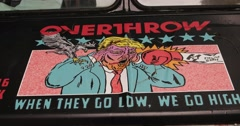 Donald Trump Political Street Art in Manhattan New York City 4K Stock Footage