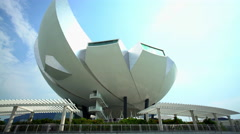 Singapore - September 2016: View of the futuristic Art Science Museum Building Arkistovideo