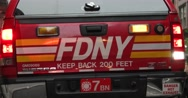 Emergency Fire Truck in Manhattan New York City 4K Stock Footage