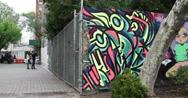 Past Street Art in Manhattan New York City 4K Stock Footage