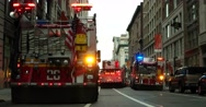 Emergency Fire Trucks in Manhattan New York City 4K Stock Footage