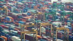 Singapore - September 2016: Time lapse view of South East Asian shipping Stock Footage