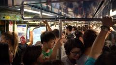 4K, Passengers at rush hour are standing in the metro of Taipei, Taiwan-Dan Stock Footage