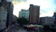 4K, Taipei city buildings view from the windows of metro  -Dan Stock Footage