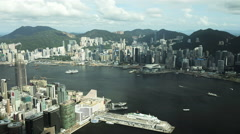Hong Kong - September 2016: Time lapse Cloudscape view of Victoria Peak and Stock Footage