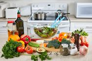 Vegetables in the kitchen. Stock Photos