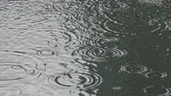 4k Falling Rain Water on the lake-Dan Stock Footage