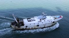 Italian fishing trawler, Mediterranean Sea Stock Footage
