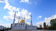 Nur Astana Mosque in Astana, Kazakhstan. Time Lapse Stock Footage