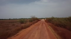 Driving in Africa road - Guinea Bisseau Stock Footage