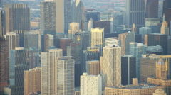Chicago, USA - September 2016: Aerial sunrise view of Chicago Illinois the Windy Stock Footage