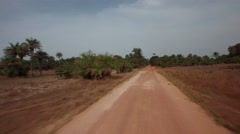 Driving jeep in road Africa - Guinea Bisseau Stock Footage