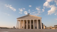 Astana Opera Theater. Sunset, lights turn on. Astana, Kazakhstan. Time Lapse Stock Footage