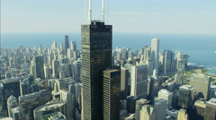 Chicago, USA - September 2016: Aerial day view of Chicago Illinois Willis Tower Stock Footage