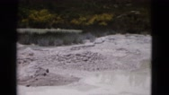 1958: natural steam vents coming from water feature MONTANA Stock Footage