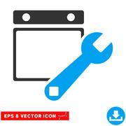 Date Setup Eps Vector Icon Stock Illustration