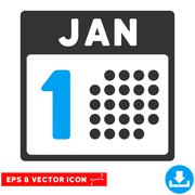 January First Eps Vector Icon Stock Illustration