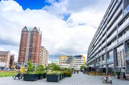 ROTTERDAM, Netherlands - August 10, 2016 : Street view of Rotterdam City Neth Stock Photos