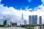 ROTTERDAM, Netherlands - August 10 : Street view of Port of Rotterdam, the ni Stock Photos