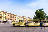 Verona, ITALY - September 3, 2016. Beautiful street view of  Verona center. S Stock Photos